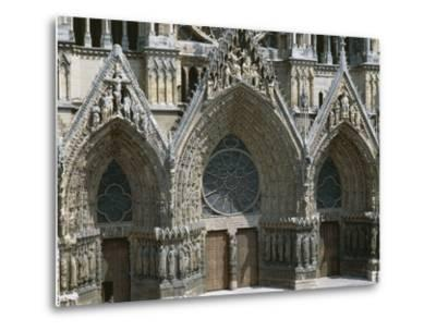 Doors of West Facade of Cathedral of Notre-Dame--Metal Print
