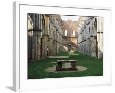 Gothic Interior of the Abbey of San Galgano--Framed Giclee Print