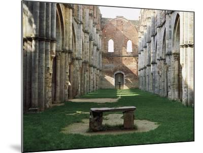 Gothic Interior of the Abbey of San Galgano--Mounted Giclee Print