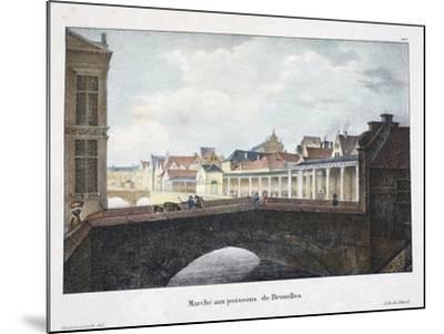 Marche Aux Poissons De Bruxelles, C.1895--Mounted Giclee Print
