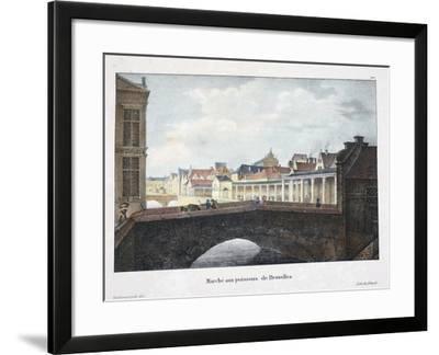 Marche Aux Poissons De Bruxelles, C.1895--Framed Giclee Print