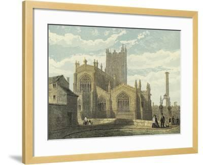 Manchester Cathedral, North East View--Framed Giclee Print
