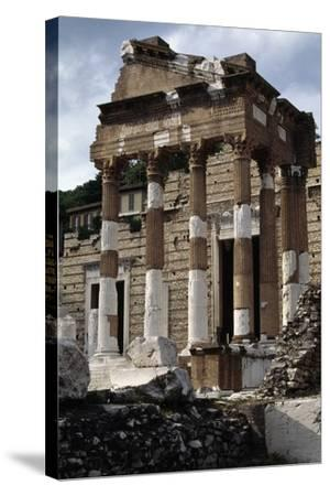 Capitolium or Capitoline Temple--Stretched Canvas Print