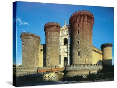 Maschio Angioino or Castel Nuovo, Naples--Stretched Canvas Print