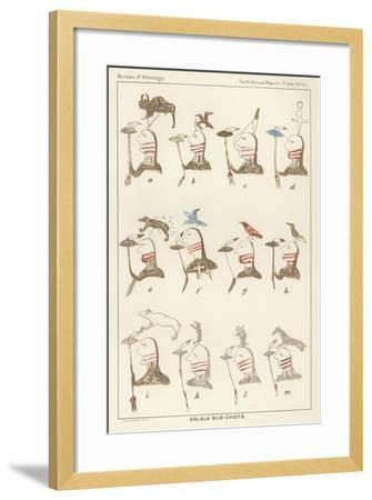 Oglala Sub-Chiefs--Framed Giclee Print