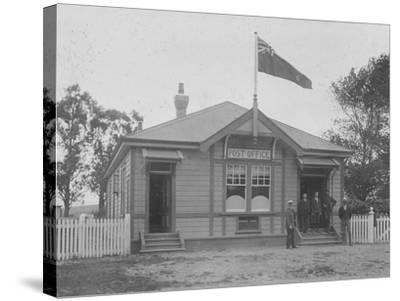 Waipu Post Office and Staff, 1916--Stretched Canvas Print