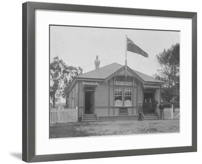 Waipu Post Office and Staff, 1916--Framed Photographic Print