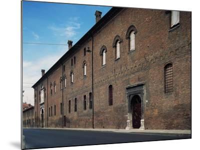 Facade, Palazzo Schifanoia--Mounted Giclee Print