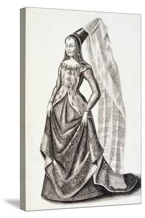 Portrait of Mary of Burgundy--Stretched Canvas Print