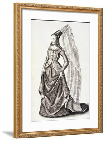 Portrait of Mary of Burgundy--Framed Giclee Print