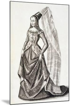 Portrait of Mary of Burgundy--Mounted Giclee Print