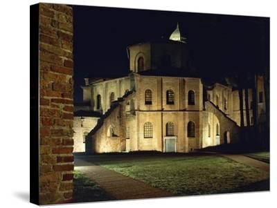 Night View of Basilica of San Vitale--Stretched Canvas Print