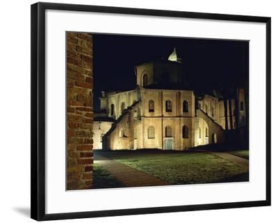 Night View of Basilica of San Vitale--Framed Giclee Print
