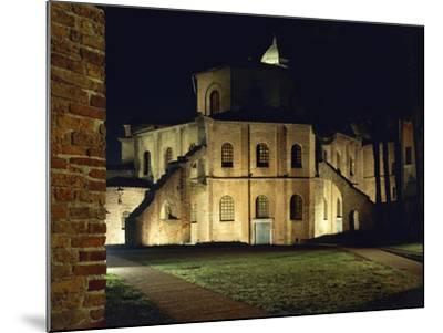 Night View of Basilica of San Vitale--Mounted Giclee Print
