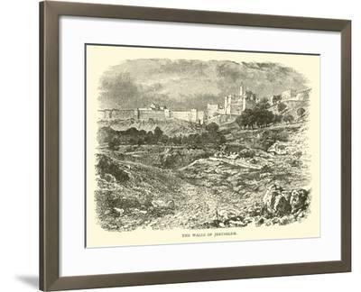 The Walls of Jerusalem--Framed Giclee Print