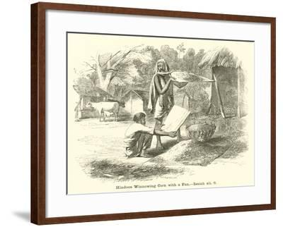 Hindoos Winnowing Corn with a Fan, Isaiah, Xli, 6--Framed Giclee Print