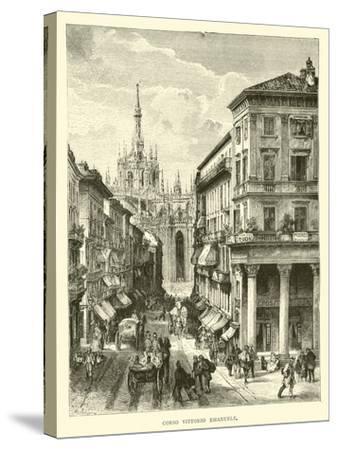 Corso Vittorio Emanuele--Stretched Canvas Print