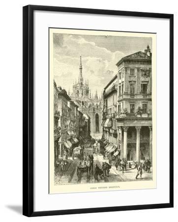 Corso Vittorio Emanuele--Framed Giclee Print