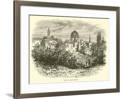 View in Jerusalem--Framed Giclee Print