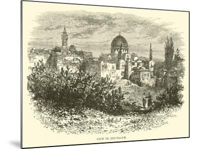 View in Jerusalem--Mounted Giclee Print