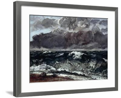 The Wave--Framed Giclee Print
