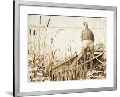 Portrait of Giacomo Puccini--Framed Giclee Print