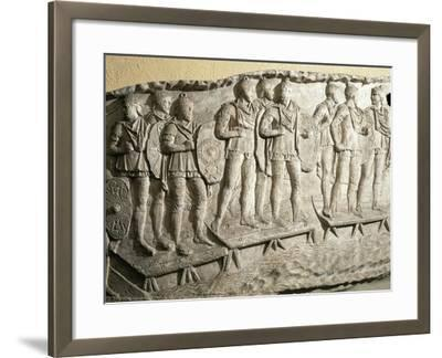 Model of Trajan's Column--Framed Giclee Print