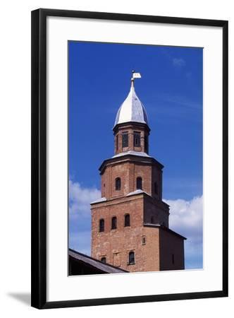 Tower on City Walls of Novgorod Kremlin--Framed Photographic Print