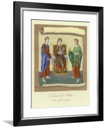 Ecclesiastical Habits of the 8th Century--Framed Giclee Print