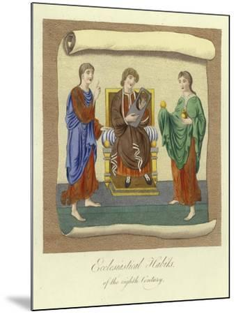 Ecclesiastical Habits of the 8th Century--Mounted Giclee Print