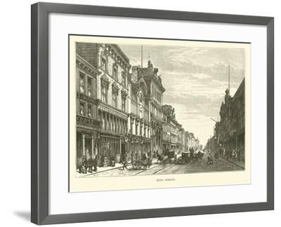 King Street--Framed Giclee Print