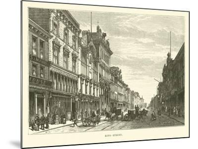 King Street--Mounted Giclee Print