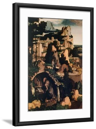 St. Jerome Penitent, Copy, by Albert Bouts--Framed Giclee Print
