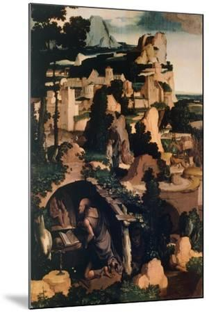 St. Jerome Penitent, Copy, by Albert Bouts--Mounted Giclee Print