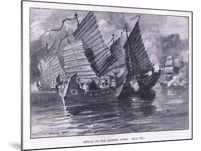 Attack on the Chinese Junks AD 1841-William Heysham Overend-Mounted Giclee Print