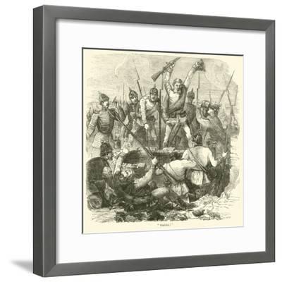 """Water!"", January 1871--Framed Giclee Print"
