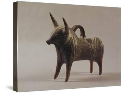 Zoomorphic Terracotta Vase from Ugarit--Stretched Canvas Print