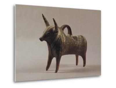 Zoomorphic Terracotta Vase from Ugarit--Metal Print