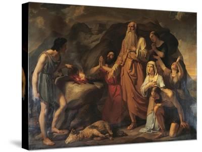 Noah's Sacrifice-Carlo Bellosio-Stretched Canvas Print