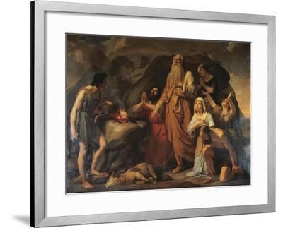 Noah's Sacrifice-Carlo Bellosio-Framed Giclee Print