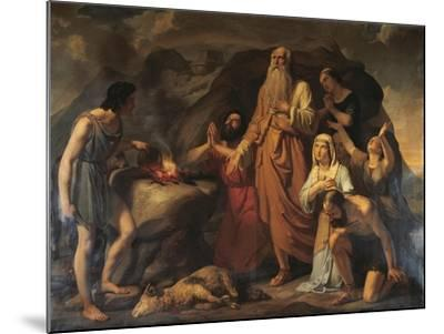Noah's Sacrifice-Carlo Bellosio-Mounted Giclee Print