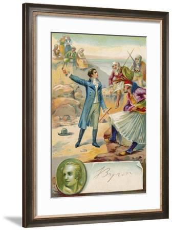 Lord Byron, English Poet--Framed Giclee Print
