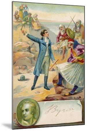Lord Byron, English Poet--Mounted Giclee Print