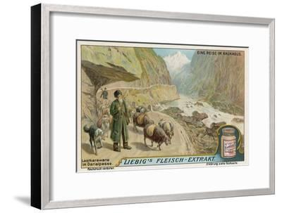Caravan in the Darial Gorge, Russia--Framed Giclee Print