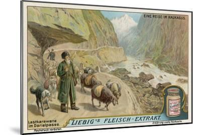 Caravan in the Darial Gorge, Russia--Mounted Giclee Print