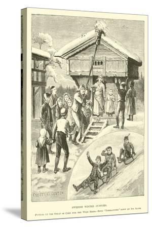 Swedish Winter Customs--Stretched Canvas Print