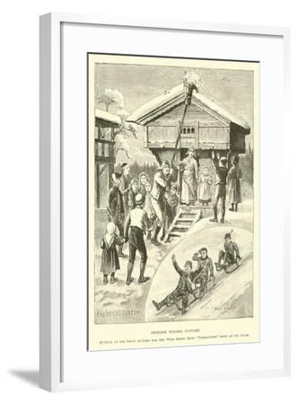 Swedish Winter Customs--Framed Giclee Print