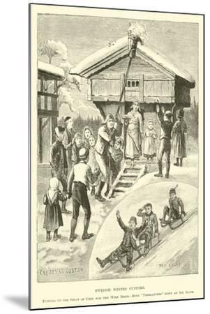 Swedish Winter Customs--Mounted Giclee Print