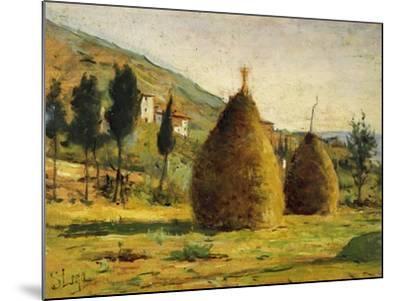 Haystacks in Sun, 1890-Silvestro Lega-Mounted Giclee Print