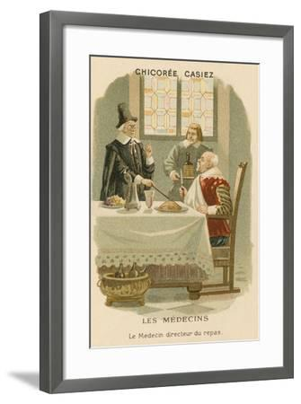 A Doctor Telling a Man What He Should Eat--Framed Giclee Print
